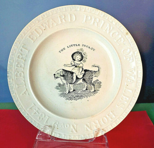 1841 CERAMIC Commemorative PLATE birth ALBERT EDWARD PRINCE OF WALES, Edward VII