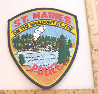 ~ST. MARIES~ON THE SHADOWY ST. JOE~IDAHO POLICE PATCH~