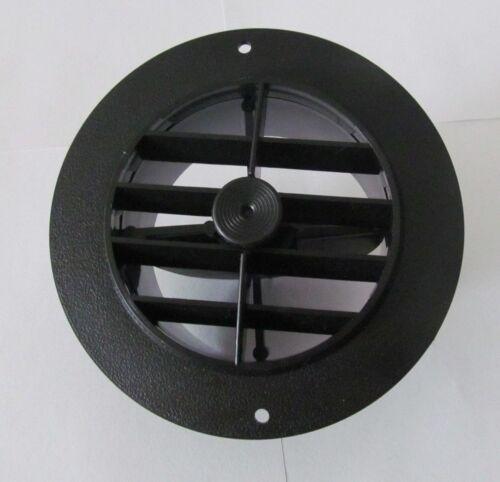 "5 1/2"" Face 4"" Back BLACK Round Rotaire Grille Damper Heat AC Register Vent RV"