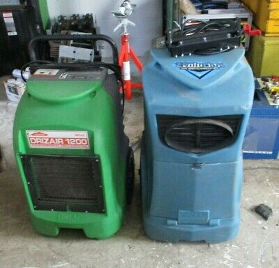Lot Of 2 Dri-eaz Commercial Dehumidifier F292-a Lgr And F203-a 1200 As Is