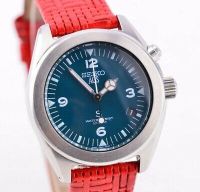 K829 Vintage Seiko S AGS Kinetic Watch Green Dial 5M22-6C30 Original JDM 145.2