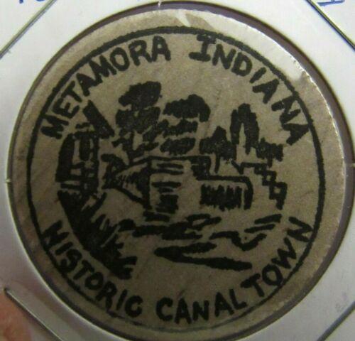 Vintage Historic Canaltown Metamora, IN Wooden Nickel - Token Indiana