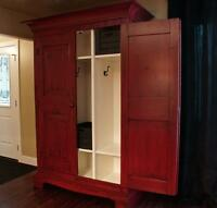 Reclaimed Wood Farmhouse Locker/Wardrobe by LIKEN Woodworks