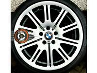 """19"""" Genuine BMW M3 Staggered Alloys Good Tyres Refurbished."""