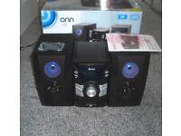 Onn 100W HiFi Bluetooth USB & CD Music System Brand New