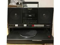 Panasonic SG-J500L black boombox record player / ghetto blaster