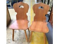 Pair of wooden chairs. CHRISTCHURCH