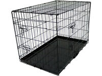 Dog Cage New/unused/still boxed 36 inch 2 door folding metal cage/pet carrier