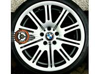 "19"" Genuine BMW M3 Staggered Alloys Good Tyres Refurbished."