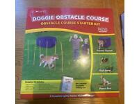 Doggie obstacle course dog training course and games