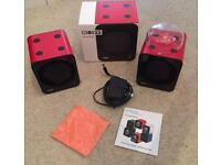 Two Red Boxy watch winders