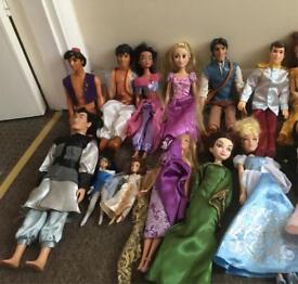 Disney Prince And princess doll bundle