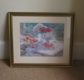 Framed Pastel Print - 'The Silver Pot' by Jackie Simmonds - excellent condition