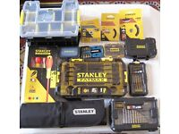 STANLEY TOOL ACCESSORIES Screwdrivers, Bits, Spanners, Organiser Box,Wire Wheel Brushes, Tool Roll