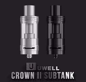 2 x uwell crown v2 vape tanks, atomizers, e cig, vaping, new, unused