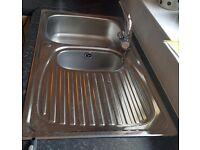 Stainless Steel Kitchen Sink & Mixer Taps