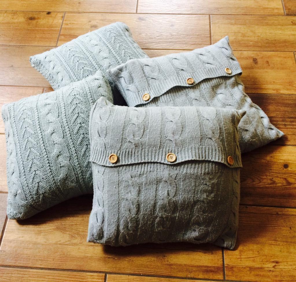4 x cushions. Duck egg. Laura Ashley. Duck feather