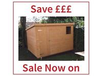 HIGH Quality 10x6 (ALL SIZES) Pent roof Garden Sheds LOW Prices (Free Delivery & Free Installation)