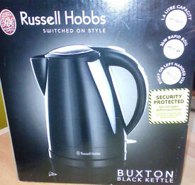 Russell Hobbs Buxton Piano Black Kettle - Used for 3 weeks - Excellent Condition.