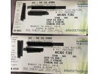 2 Arcade Fire Standing Tickets Glasgow £70 for pair