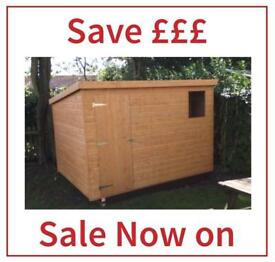 6x4 Quality Pent roof Garden Sheds (All sizes)