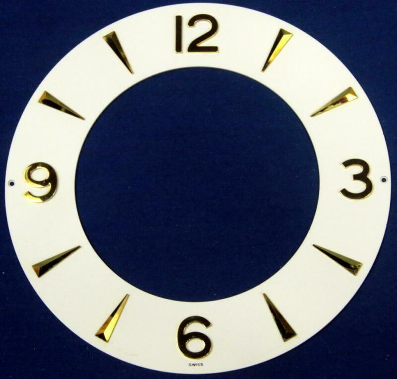 G54.  ATMOS LECOULTRE CLOCK DIAL 526 SWISS GILT ROMAN NUMERALS VERTICAL  @ III,