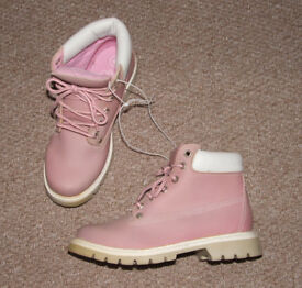 Pale pink lace-up boots – Size 4 - Brand new but no box