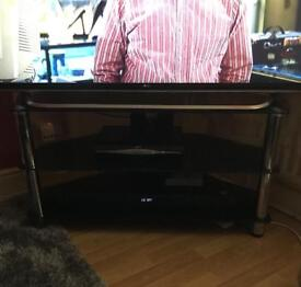 """TV Stand 55"""" (Black Tempered Glass)"""
