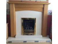 Fireplace, gas fire and surround