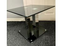 Black Glass Side Corner Lamp Table, Perfect Condition