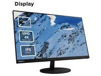 Lenovo L28u-30 28 Inch 4K Monitor (IPS Panel, 60 Hz, 6 ms, HMDI, DP) Tilt Screen