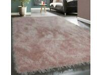 Pink shaggy rug 160/240 open to offers