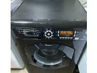 Hotpoint ultima new model black edition timer display fully functional washing machine