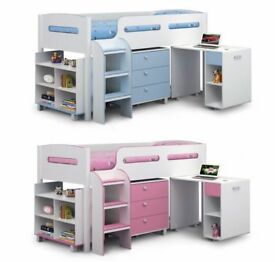 BRAND NEW JULIAN BOWEN KIMBO CABIN BED WHITE & SKY BLUE Or PINK Can Deliver View Collect Welcome