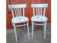 Mid Century Modern Pair of Chair 1970's Vintage Restored Scandinavian Style