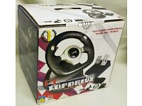 Logic 3 TopDrive USB Wheel - Steering Wheel and Pedals Set (Wired) NEW