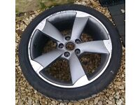 Genuine Audi S3/A3 18 Inch Rotor Alloy Wheel x1 with Tyre 225 40 R18