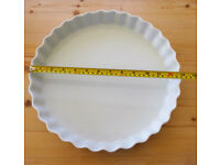 NEW FLAN DISH - CATERING SIZE 33cm FRENCH PORCELAIN (1 of 2) Pillivuyt.