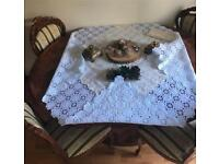Dining table, luxury display unit and small table complete set