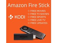 FIRE TV STICK with KODI - LATEST MOVIES, TV SHOWS, LIVE SPORTS, PPV, LIVE TV, KIDS TV, ADULT OPTION