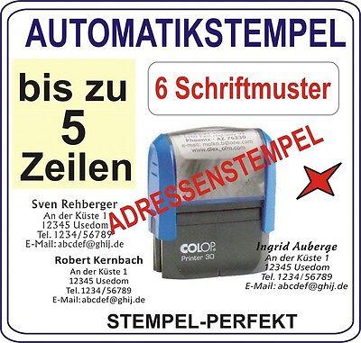 AUTOMATIKSTEMPEL BÜROSTEMPEL ADRESSENSTEMPEL FIRMENSTEMPEL STEMPEL für 5