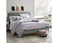 West elm Andes Deco Upholstered Double Bed Plus Mattress