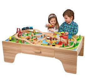 Smyths wooden train table set