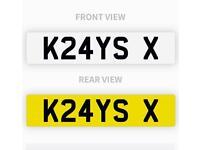 Private number plate K24 YSX K24YS X KRAYS KRAY