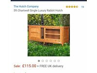 Large 5ft rabbit hutch and cover for sale