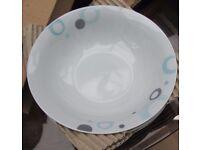 2 x Churchill Geo spot 12 piece Porcelain dinner sets. $ Bowls, 4 salad plates, 4 Dinner plates. NEW