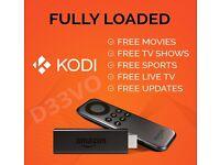 Amazon Fire TV Stick Fully Loaded KODI XBMC ✔Movies✔Sports✔Live TV✔3PM KICK-OFFS✔PPV