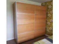 Ikea Pax Wardrobe with ILseng Sliding Doors