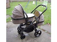 iCandy Peach Blossom TWIN Stroller in Primrose/Black with Car Seats