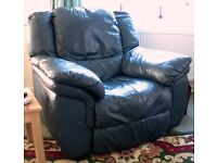 3 X LUXURY FULLY RECLINING LARGE HEAVY DUTY CHAIRS TOP QUALITY REAL SOFT LEATHER HIDE NOT PIGSKIN